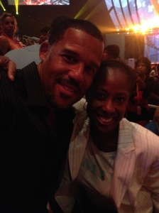 Telling jokes with Peter Parros (David from Tyler Perry's Have and Have Nots)