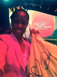 Receiving our O-bags designed by #PeaceLoveWorld #AlinaVillasante @peaceloveworld.com