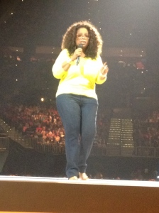 There's Oprah. And no my iPhone is not that good... our seats were that close!
